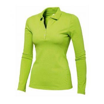 Женские рубашки поло с длинным рукавом