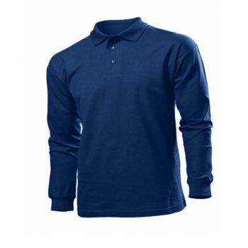 Мужские рубашки поло с длинным рукавом