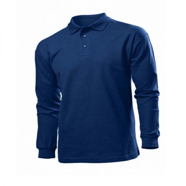 мужская рубашка поло длинный рукав